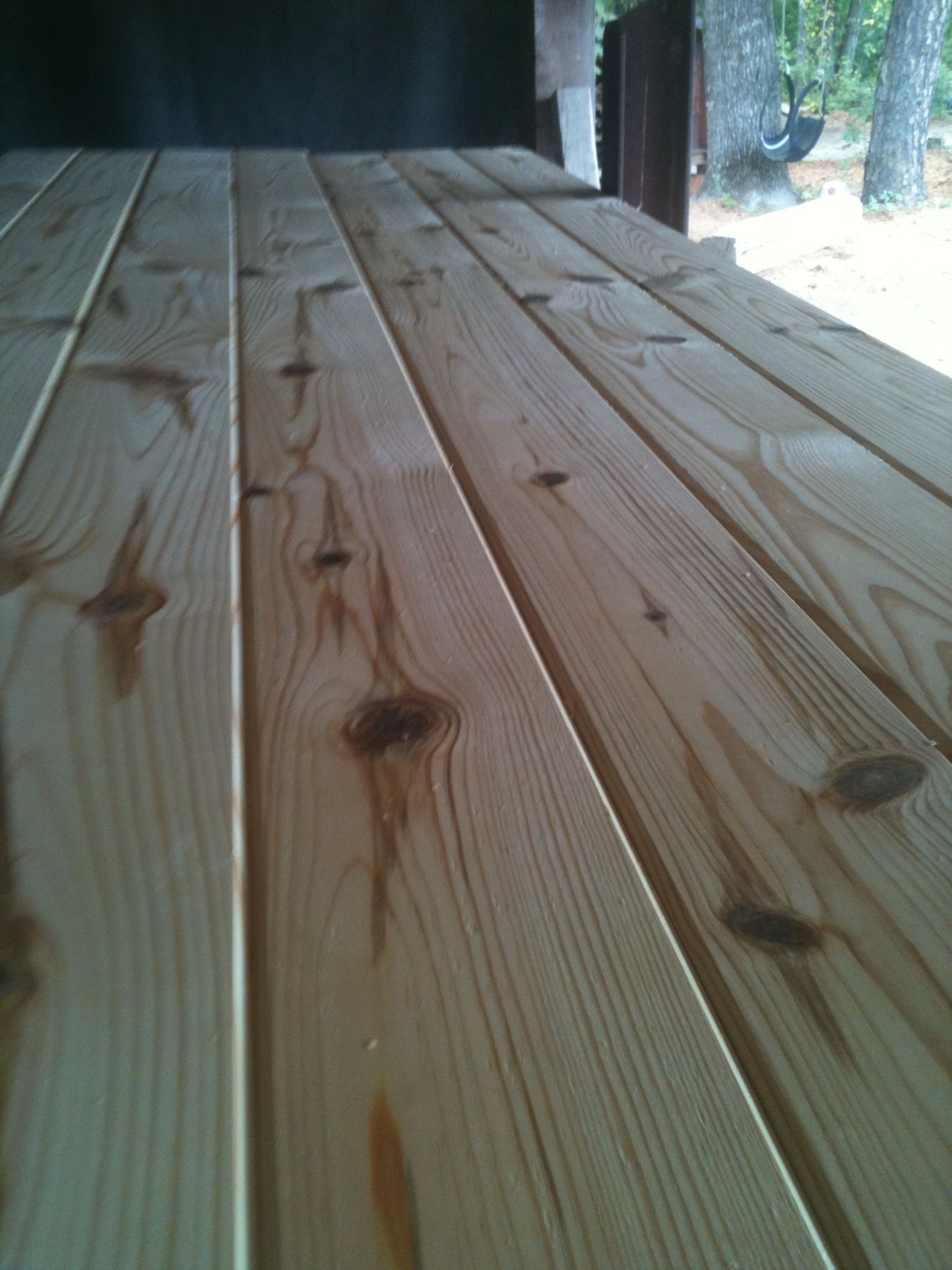 Red Cedar And Yellow Pine Log Siding V Groove Lumber