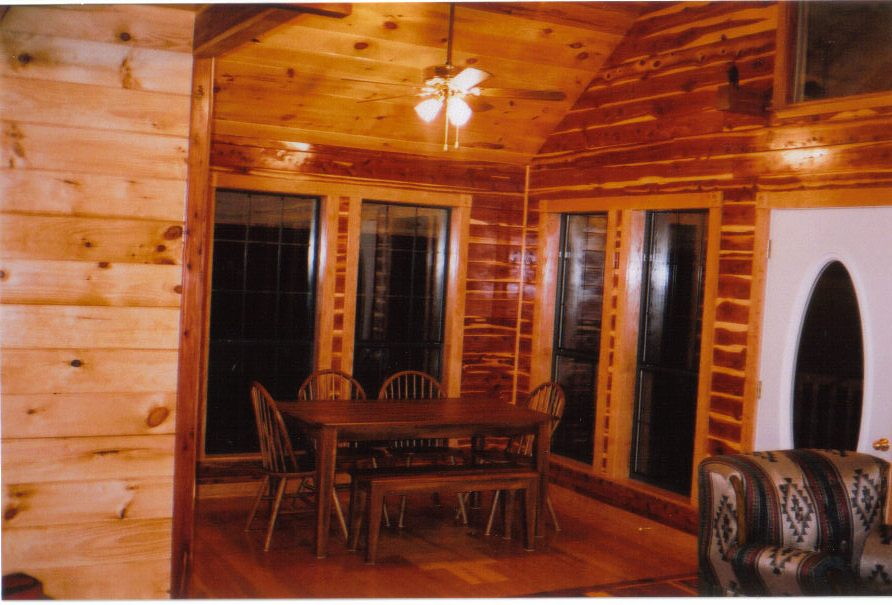Red Cedar And Yellow Pine Log Siding, V Groove, Lumber From Silver Creek  Sawmill In Oklahoma.